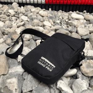 CHGP Bæltetaske sort med hvidt logo